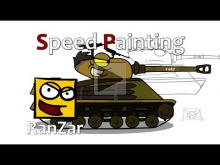 Speed Paint Sherman Fury. RanZar. Рандомные Зарисовки.