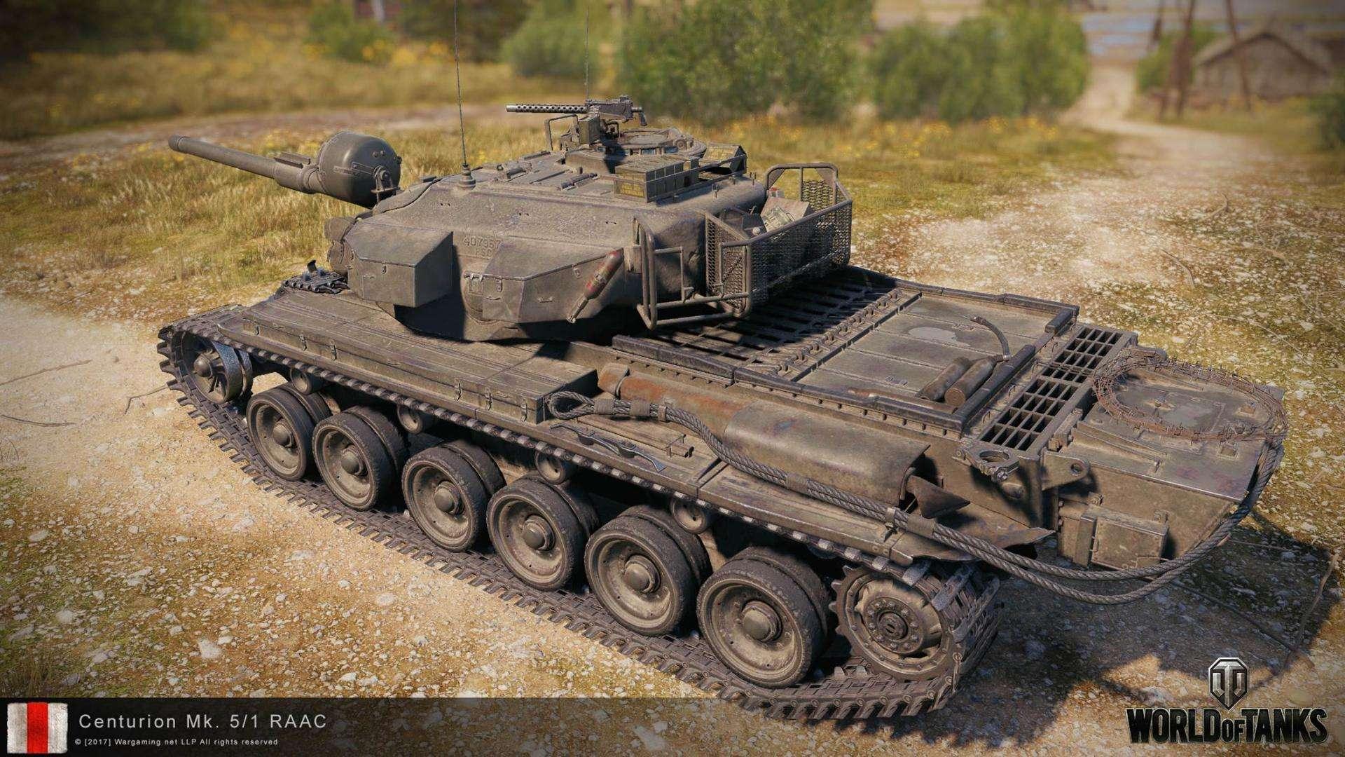 Рендеры Centurion Mk. 5/1 RAAC